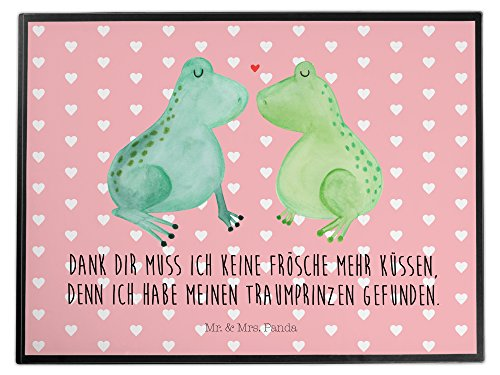 Mr. & Mrs. Panda Schreibtischunterlage Frosch Liebe - 100{82ef7ca48aedd9a3e31386eb02f0166dc0e16eb2867dfc3125dbf2708769266b} handmade in Norddeutschland - Liebe, Verliebt, Verlobt, Verheiratet, Partner, Freund, Freundin, Geschenk Freundin, Geschenk Freund, Liebesbeweis, Jahrestag, Hochzeitstag, Verlobung, Geschenk Hochzeit, Frosch, Frösche, Froschkönig, Fröschchen Schreibtischunterlage, Schreibtisch, Unterlage