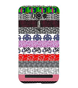 Fiobs mixing of geometric designs Designer Back Case Cover for Asus Zenfone 2 Laser ZE500KL (5 Inches)