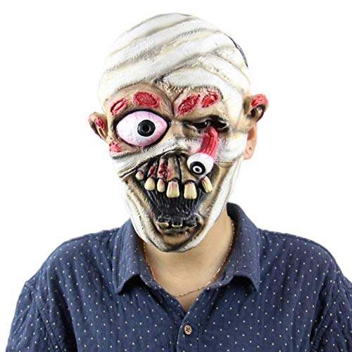 YDXJJ Halloween Maske Scary Zombie Dolls Maske Devil Demon Wizard Kostüm Party Latex Maske Bleeding Zombie Horror Gesichtsmaske Für - Scary Doll Halloween Kostüm