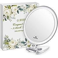 """LAVANY Espejo Compacto, Espejo de Maquillaje de Doble Cara, Espejo Compacto con Magnificación 10x, Perfecto para Viajes (3.2"""")"""