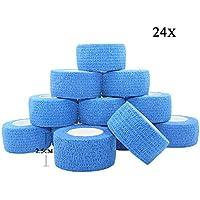 STpro Selbstklebender Verband Tape Fixierverband Selbsthaftende Bandage Tape Haftbandage 2,5cm x 24 Stück Blau... preisvergleich bei billige-tabletten.eu