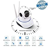 #3: KONARRK Wireless HD IP Wifi CCTV Indoor Security Camera Stream Live Video in Mobile or Laptop - White