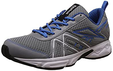 Reebok Men's Finish Point Grey , Blue , Silver, Black And White Running Shoes - 13 UK