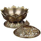 Gosear Lotus-Form Aromatherapie Weihrauch Brenner Halter Ofen Räuchergefäß Haus Dekoration Zubehör B