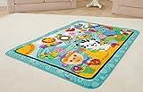 Fisher-Price – Große Spiel- und Krabbeldecke mit Tiermotiven und Babyspielzeug, 1 x 1.50 m, blau - 9