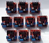 (10) L298N Dual H Bridge DC Stepper Motor Driver Module Controller Board for Arduino Teacher Student Package MTS1EU