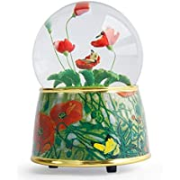 Preisvergleich für Baby-lustiges Spielzeug Van Gogh Kreative Kristallkugel Spieluhr Harz Handwerk Ornamente Für Geburtstagsgeschenk-Blume