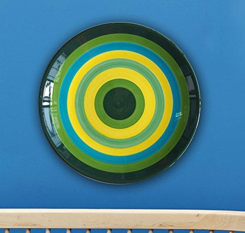 Design Dekoration Hand-Painted keramische Platte an der Wand hängende Platte Disc/Kaufen Fünf einen Regenbogen senden (Hängende Regenbogen-dekoration)