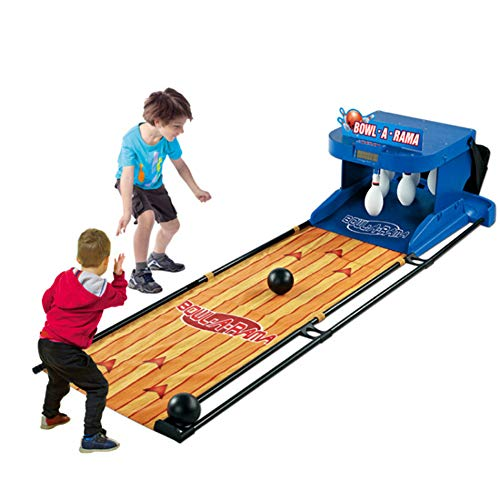 Elektronischer Bowling Alley Spiel, Familienspiel für 1-2 Spieler, Bowling-Spiel für Kinder und Erwachsene-elektronische Schreibtafel Scorer Soundeffekte LED-Leuchten-6.6 Feet zusammenklappbare