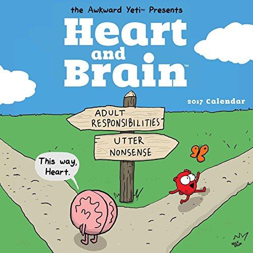 Heart and Brain (Square Wall) por Nick Seluk