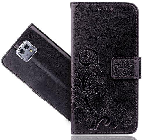Preisvergleich Produktbild LG X Cam Handy Tasche,  FoneExpert® Blume Wallet Case Flip Cover Hüllen Etui Hülle Ledertasche Lederhülle Schutzhülle Für LG X Cam