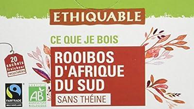 Ethiquable Rooibos Afrique du Sud Bio et Équitable 20 Sachets Max Havelaar - Lot de 4