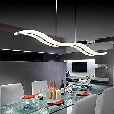 kasy-led ® 2016Nueva Moderno 38W LED Techo acrílico Lámpara colgante de techo Droplight luces accesorios para comedor vestíbulo Lampadario 220V-240V blanco cálido