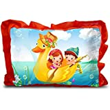 Sleep Nature's Baby Pillow For Kids|Soft Baby Pillow|Rectangle Shape|Soft Toys|Cartoon Printed|Red Colour Pillow|Pillow Size 14x20 Inches|120