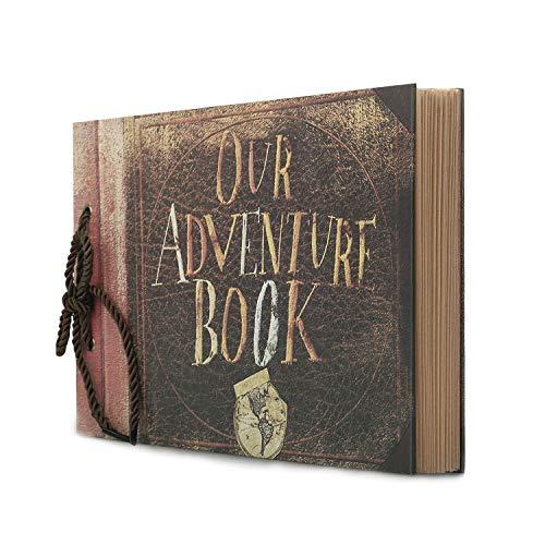 Potok Scrapbook 12x9 Fotoalbum, Schwarze Seiten, ideal für Bastelpapier DIY Jahrestag, Hochzeit, Gästebuch, DIY Jahrestag Reise Erinnerungsbuch Our Adventure Book -