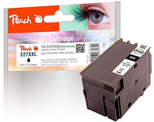 Peach Tintenpatrone schwarz kompatibel zu Epson No. 27XXL, T2791