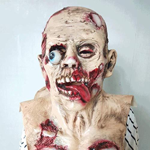 (Halloween Spukhaus Room Escape Horror Maske Biohazard Vampir Zombie Zombie Body Faules Gesicht Scary Kopfbedeckungen,A-OneSize)