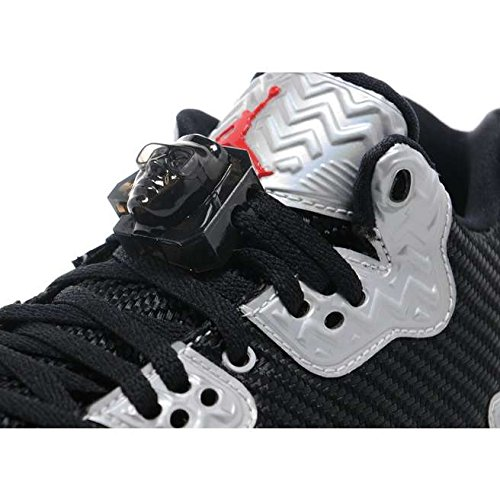 Nike Air Jordan Spike Forty Low Bg, espadrilles de basket-ball garçon Noir (Black (noir / feu rouge platine pur))