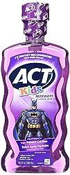 ACT Kids Anticavity Fluoride Rinse, Batman Fruit Punch, 16.9 Bottle (2-Pack)