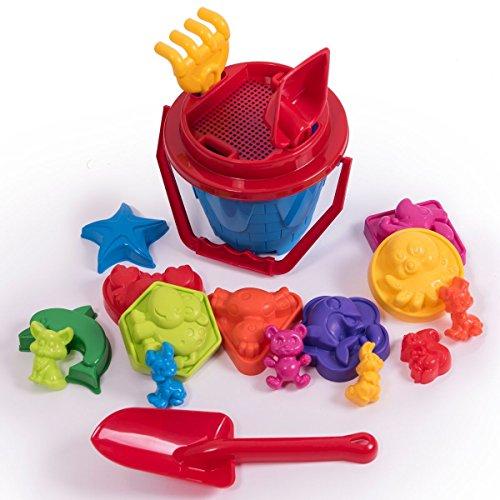 18-tlg.Sandkasten-Set, Sandspielzeug, Eimergarnitur für Kinder, Sandformen für Mädchen und Jungen, Happy Sand, Kinetic Sand … (Mädchen Sand)