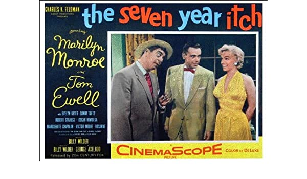 VINTAGE THE SEVEN YEAR ITCH MARILYN MONROE MOVIE POSTER A2 PRINT