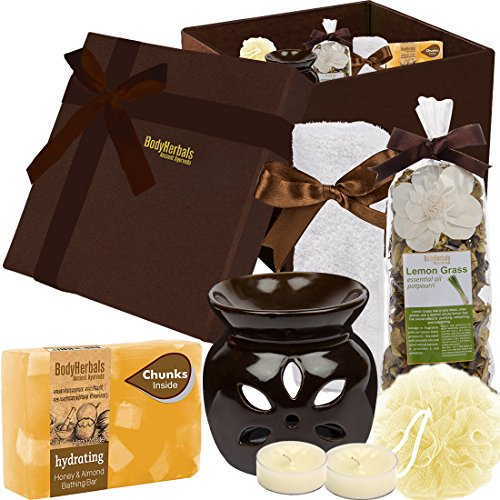 BodyHerbals Honey & Almond Spa Set (Bathing Bar, Terrytowel, Spa Accessories) Personal Care, Beauty, Bath & Shower, Skin care and gifting Idea