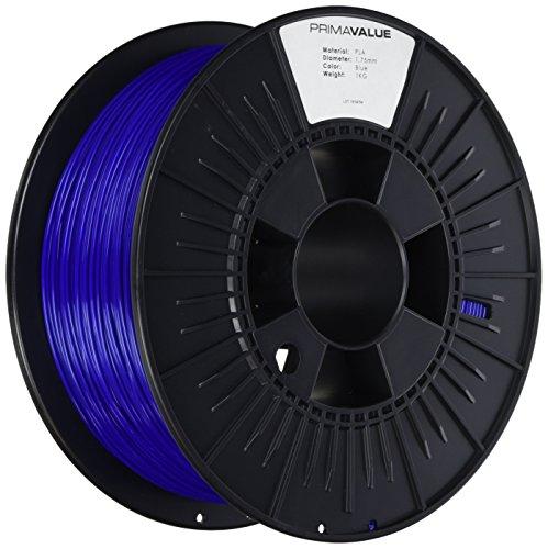 3D Prima PrimaValue PLA Filament, 1.75 mm, 1 kg Spool, Blue Test
