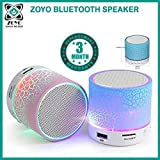 #3: Zoyo Bluetooth Speaker With Led Wireless Bluetooth Speaker With Handsfree Calling Feature, Fm Radio & Sd Card Slot Compatible Samsung, Motorola, Sony, Oneplus, HTC, Lenovo, Nokia, Asus, Lg,Oppo,Vivo, Coolpad, Xiaomi, Micromax and All Mobiles With Android devices (Assorted Colors)
