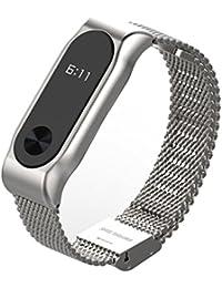 COOSA Moda de acero inoxidable cinturón correa de la muñeca con marco de metal Wristband pulsera
