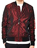 Alpha Industries Bomberjacke MA-1 LW Iridium (S, burgundy)