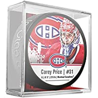 Sher-Wood Carey Price Montreal Canadiens Star Player NHL Puck