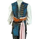 daiendi de piratas del Caribe 4Jack Sparrow Chaleco disfraz adulto Talla