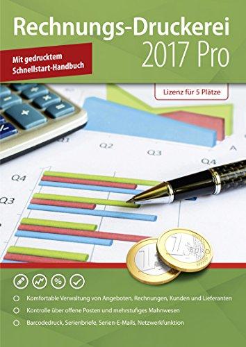 Rechnungsdruckerei 2018 PRO - Rechnungsprogramm, Verwaltung von Angebote, Lieferscheine, Rechnungen, Gutschriften, Statistiken, Kunden und Lieferanten für Windows 10,8.1, 7, Vista und XP (keine zeitliche Begrenzung)