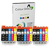 15 XL Colour Direct Compatible Ink Cartridges Replacement For Canon CLI-551XL/ PGI-550XL Pixma iP7250 iP8750 iX6850 MG5450 MG5550 MG5650 MG6350 MG6450 MG6650 MG6600 MG7150 MG7550 MX725 MX925 Printers.