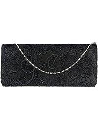 c692d546d16f4 Clutch Bag Abendtasche Damen Clorislove Handtasche Brauttasche Damentasche  mit Spitze