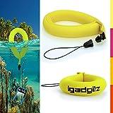 igadgitz u4543Wasserdicht Armband für Unterwasser Kameras, Camcorder–Neon Gelb, 1Pack