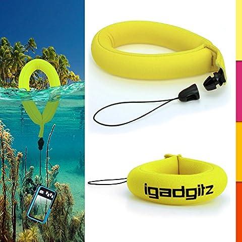 iGadgitz 1 Pack Neon Yellow Waterproof Floating Wrist Strap suitable for Underwater/Waterproof: Cameras, Video cameras, cases & housing, Marine binoculars + Waterproof Sony