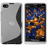 mumbi S-TPU Schutzhülle für BlackBerry Z30 Hülle transparent weiss