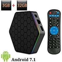WEILY 2018 Newly Android TV Box T95Z Plus Android 7.1 with 3GB RAM 32GB ROM Amlogic Octa Core Media Player Support 4K Resolution 2.4G/5G Dual WIFI 1000M LAN BT 4.0