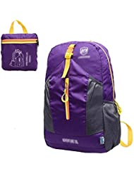 GBT Al Aire Libre Mochila De Nylon Resistente Al Agua Portátil Plegable Del Peso Ligero , Purple,purple