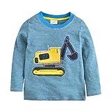 Tkria Kinder Baby Jungen Rakete Shirts Baumwolle T-Shirt Sweatshirt Unterhemd Pullover 1-7 Jahre