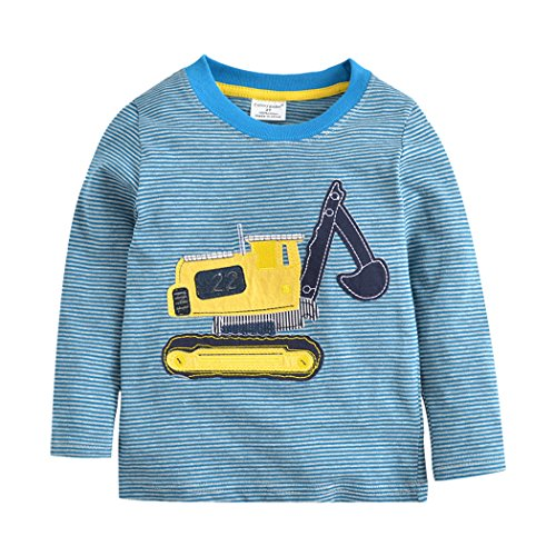 Tkria Kinder Baby Jungen Rakete Shirts Baumwolle T-Shirt Sweatshirt Unterhemd Pullover 1-7 Jahre (4 3 Shirts Länge)