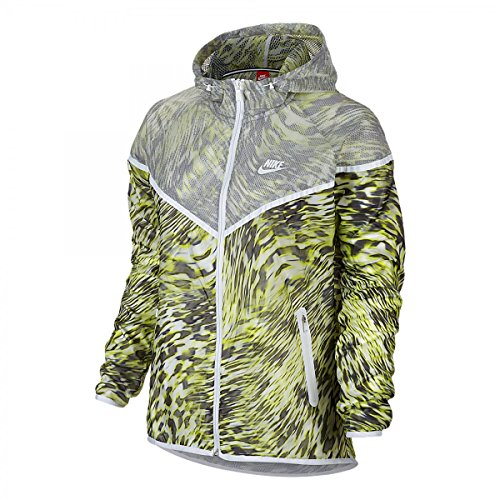 NIKE Tech Hyperfuse Windrunner Veste à capuche XS lime / weiß