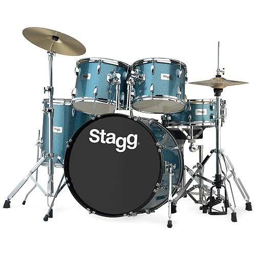 stagg-25020718-tim322b-drum-set-5588-cm-22-zoll-5-stuck-inkl-hardware-mit-cymbal-throne-blau
