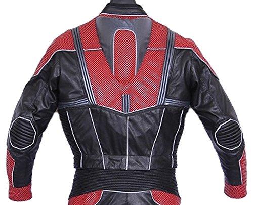 classyak Herren antman Echt Leder Motorrad Jacke Cow Black
