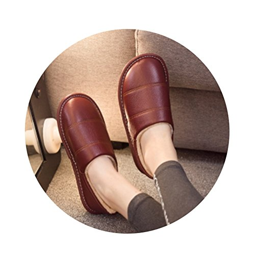 TELLW Autunno e Inverno Vero e Proprio lanugine Pantofole casa Uomini e Donne Nel Fondo del Tendine di Velluto Indoor Coppie Non Slip Warm Pecore Pelle Pantofole Vino rosso