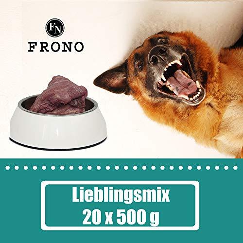 Frostfutter Nordloh Barf-Paket Lieblingsmix,10 kg, abwechselungsreiches gewolftes Barffleisch für Hunde