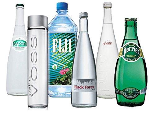 luxus-wasser-tasting-paket-voss-badoit-fiji-black-forest-evian-perrier-water-mineralwasser-designfla