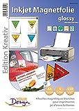 Your Design Magnet Druck Folien: 4 Inkjet-Magnetfolien wasserfest A4 hochglänzend/weiß (Bedruckbare Magnetfolie A4)