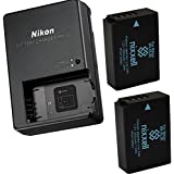 Nikon MH-27 Charger For Nikon EN-EL20 , EN-EL20a Battery & Nikon Coolpix A, Nikon 1 AW1, Nikon 1 J1, Nikon 1 J2, Nikon 1 J3, Nikon 1 S1, Nikon 1 V3, Blackmagic Pocket Cinema Camera + 2 Bonus Battery!